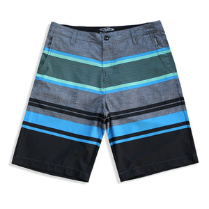 N90-S8602 (Delta bands-teal/onyx), Men Submersible Shorts (4-way-stretch)