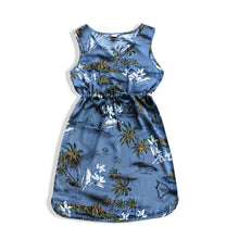 Load image into Gallery viewer, R91-D460 (Blue surf), Ladies Aloha Dress 100% Rayon