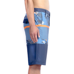 N90-S6222 (Verdant band-blue/steel), Men Submersible Shorts (4-way stretch)