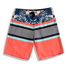 Load image into Gallery viewer, N90-B6405 (Rusty triband-orange), Men Microfiber Boardshorts (4-way stretch)