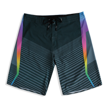 Load image into Gallery viewer, N90-B6662 (Marching rainbow-steel), Men Microfiber Boardshort (4-way stretch)- two pockets