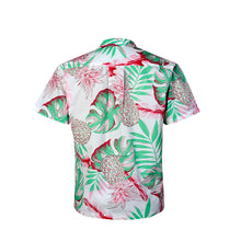 Load image into Gallery viewer, C90-A9945 (Pastel pink leaf), Men 100% Cotton Aloha Shirts.