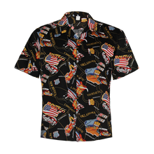 Load image into Gallery viewer, C90-A1094 (Black route 66), Men 100% Cotton Aloha Shirts.