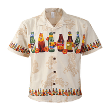 Load image into Gallery viewer, C90-A592P(Tan Brew), Men 100% Cotton Aloha Shirts.