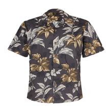 Load image into Gallery viewer, C90-A810B (Gray floral), Men 100% Cotton Aloha Shirts.