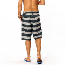 Load image into Gallery viewer, N90-S5600 (Blue/gray stripe), Men Submersible Shorts (4-way stretch)