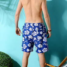 Load image into Gallery viewer, N90-T120 (Royal blue hibiscus), Men Microfiber Swimtrunk