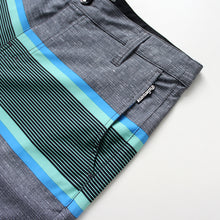 Load image into Gallery viewer, N90-S8602 (Delta bands-teal/onyx), Men Submersible Shorts (4-way-stretch)