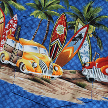 Load image into Gallery viewer, C90-A2224 (Sky blue vintage car), Men 100% Cotton Aloha Shirts.
