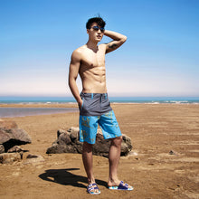 Load image into Gallery viewer, N90-S5625 (Gray/blue bird of paradise), Men Submersible Shorts (4-way stretch)