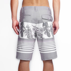 N90-S666 (Country paradise-gray), Men Submersible Shorts (4-way stretch)