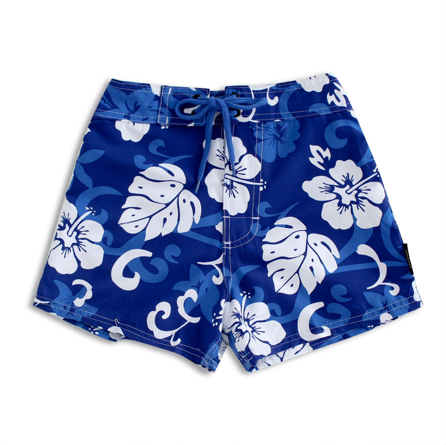 N2-B121 (Royal Floral), Girls Microfiber Boardshorts