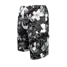 Load image into Gallery viewer, N90-B5069 (Onyx hibiscus), Men Microfiber Boardshort (4-way stretch) - three pockets