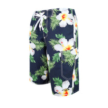Load image into Gallery viewer, N90-B5195 (Hibiscus blue), Men Microfiber Boardshorts (4-way stretch)