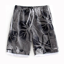 Load image into Gallery viewer, N90-T760 (Gray floral, cargo pockets), Men Microfiber Swimtrunk