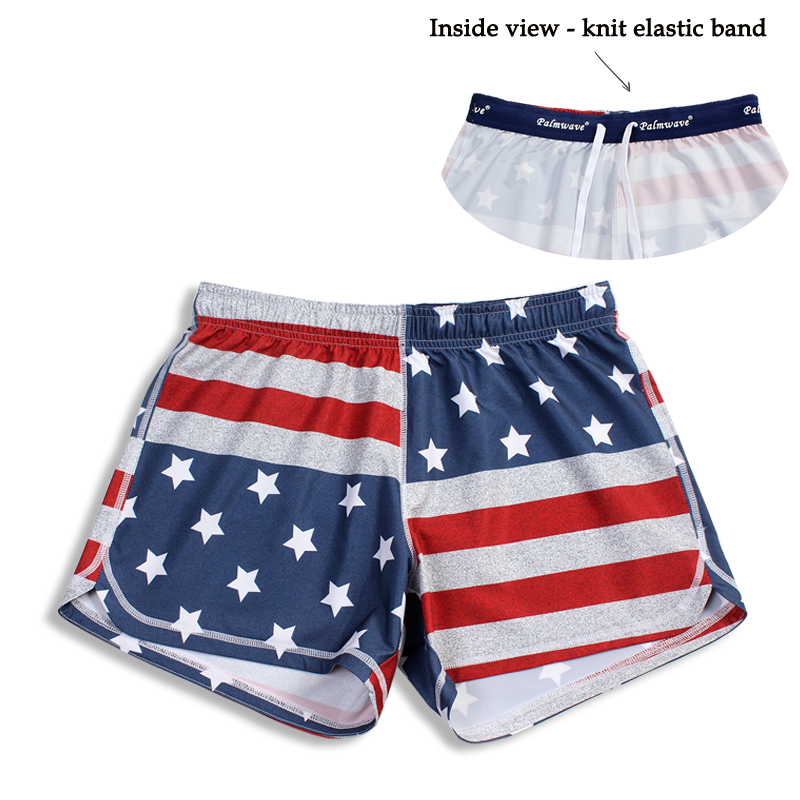 N91-CW9146 (Time honored flag),  Ladies 4-way stretch comfort waist shorts