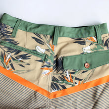 Load image into Gallery viewer, N90-S6587 (Verdant band-Green/beige), Men Submersible Shorts (4-way stretch)