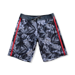 N90-B806 (Rustic botanic-onyx), Men Microfiber Boardshort- (4-way stretch) - one pocket