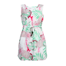 Load image into Gallery viewer, R91-D9945 (Pastel pink leaf), Ladies Aloha Dress 100% Rayon