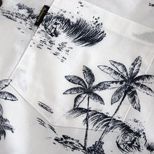 Load image into Gallery viewer, C90-A791 (Vintage white tree), Men 100% Cotton Aloha Shirts.