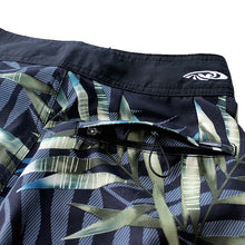 Load image into Gallery viewer, N90-B8062 (Monstera full-navy), Men Microfiber Boardshorts- (4-way stretch)