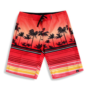 N90-B64089 (Red Scenery), Men Microfiber Boardshorts (4 way stretch)