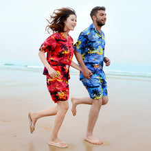 Load image into Gallery viewer, C90-A066 (Red scenery), Men 100% Cotton Aloha Shirts.