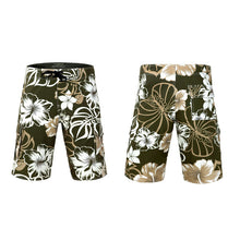Load image into Gallery viewer, N90-B5597 (Green floral), Men Microfiber Boardshorts (4-way stretch)