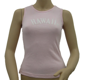 K9-MU531H (Pink Hawaii), 100% Knit Cotton Mussel Tank Top