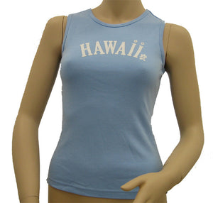 K9-MU533H (Baby Blue Hawaii), 100% Knit Cotton Mussel Tank Top