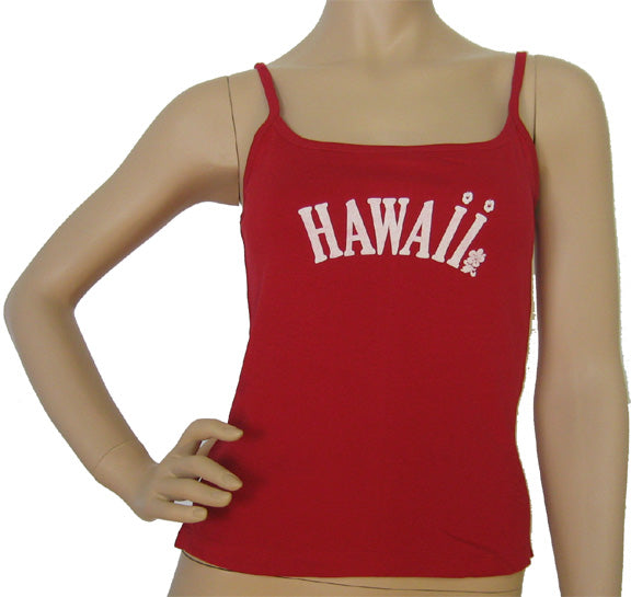 K9-SP591H (Red Hawaii), 100% Knit Cotton Single strap Tank Top