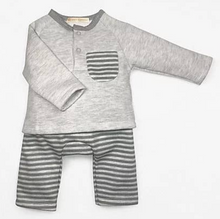 Load image into Gallery viewer, Grey Striped Sweatshirt