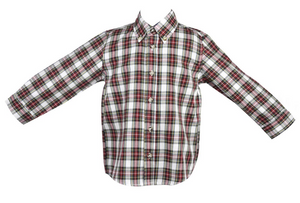 Holiday Plaid Boys Shirt