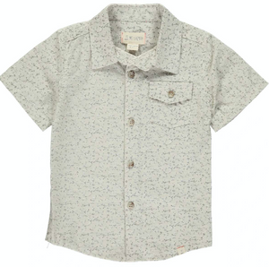 Beige Floral S and S Shirt
