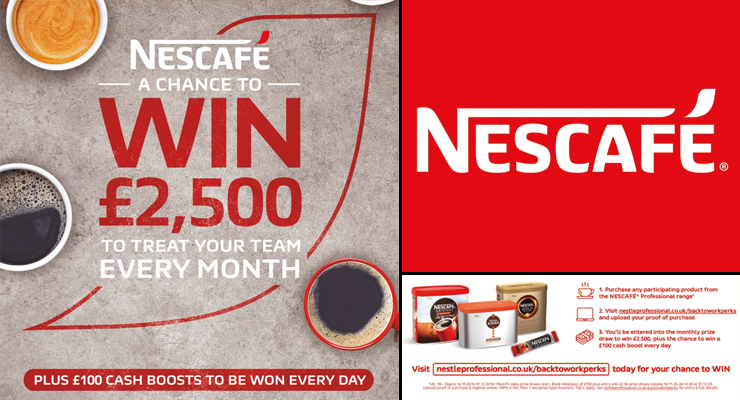 WIN £2,500 With NESCAFE Professional Coffee Range