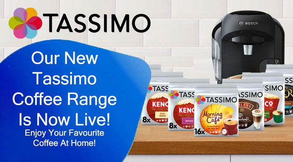 Our New Tassimo Coffee Range is Live - Enjoy Your Favourite Coffee At Home!