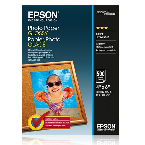 Epson 13x18cm White Glossy Photo Paper 50 Sheets