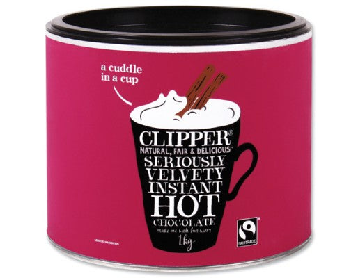 Clipper Seriously Velvety Instant Hot Chocolate Fairtrade 1kg