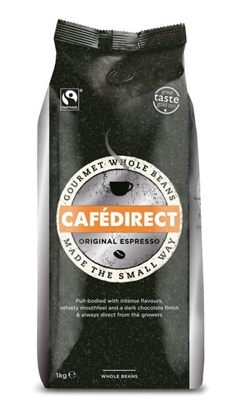Cafe Direct Espresso Coffee Beans 1kg Fairtrade