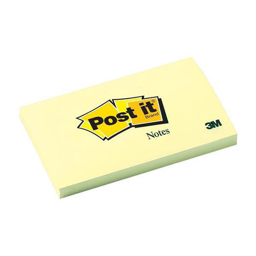 3M Post-it Notes 76x127mm Canary Yellow Pack 12 Code 655YE