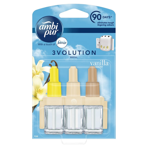 2 x Ambi Pur Vanilla 3volution plus 1 x Plug in {Starter Pack}