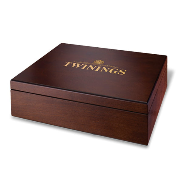 Twinings 12 Compartment Wooden Display Box & 120 Mixed Superblend Flavours
