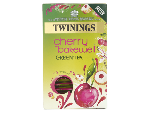 Twinings Sweet Green Tea Cherry Bakewell Envelopes 20's