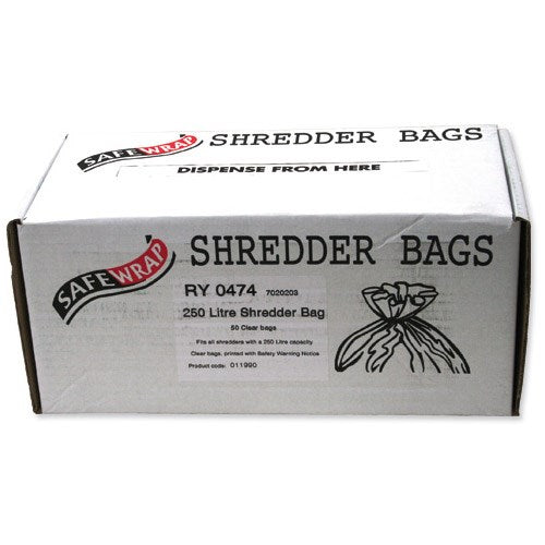 Safewrap 250 Litre Shredder Bags (Pack 50)