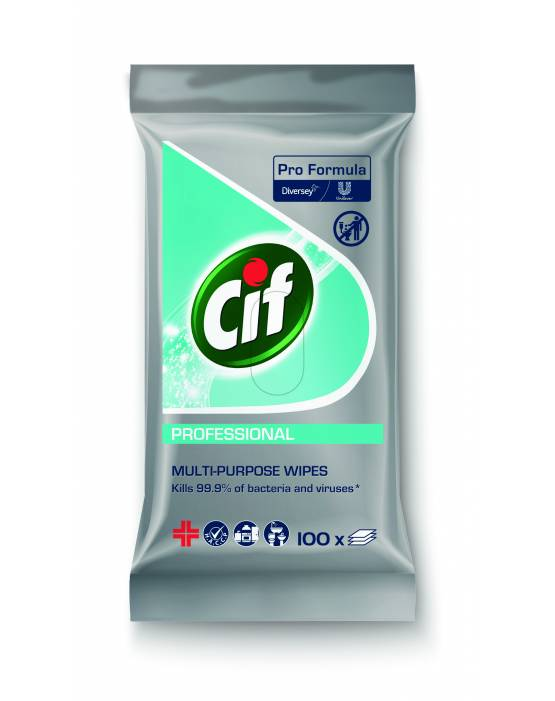 Cif Professional Multipurpose Pro Formula Cleaning Wipes 100's