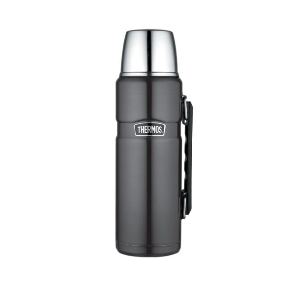 Thermos Stainless Gun Metal Flask 1.2 Litre