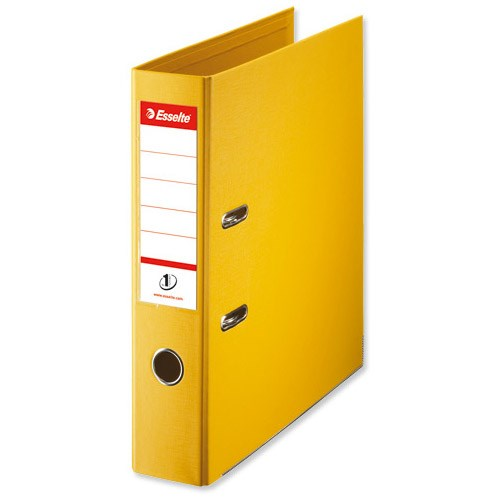 Esselte No.1 Power A4 Yellow Lever Arch File 75mm Spine 10 Pack