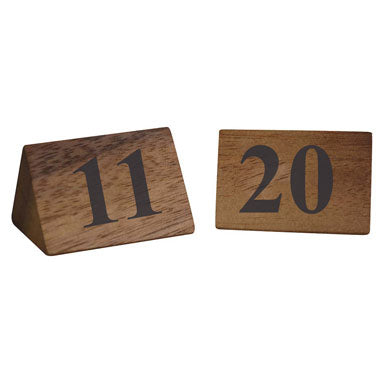 Zodiac Naturals Wooden Table Numbers 11-20