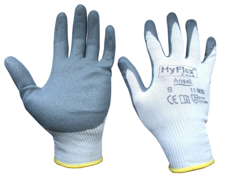Ansell Hyflex Grey Foam Gloves (Pair)