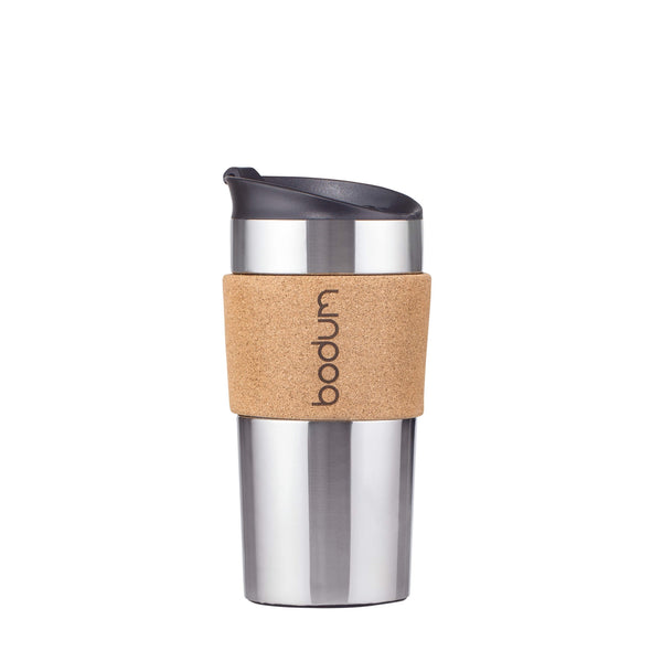 Bodum Stainless Steel & Cork Travel Mug 0.35 Litre